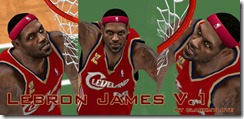 King Lebron James Cyberface Patches for NBA 2K10