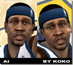 Allen Iverson Cyberface Patches for NBA 2K10