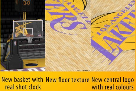 Los Angeles Lakers Court Patches by universalmaster